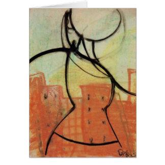 """""""Calor"""" Notecard de pintura en colores pastel, Tarjeta De Felicitación"""