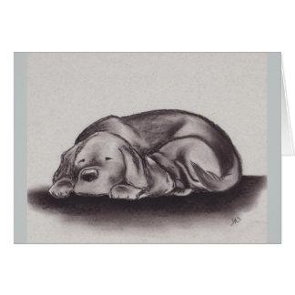 """""""Calor"""" tarjeta de felicitación de Labrador y del"""