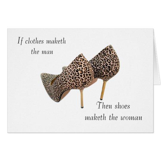 Calza el maketh la mujer tarjeta de felicitación