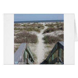 calzada a la playa tarjeta