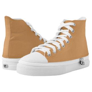 Calzado de moda Sólido-Coloreado bronce del