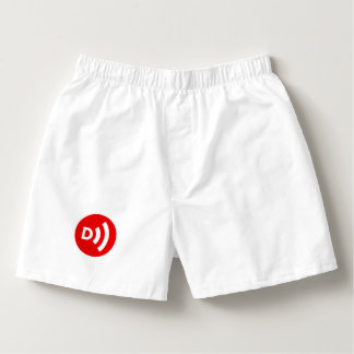 Calzoncillos Boxeadores abatidos del logotipo en blanco