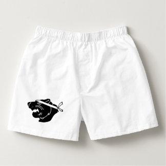 Calzoncillos Boxeadores blancos con el logotipo negro de