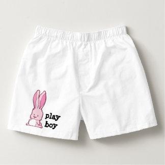 Calzoncillos Dibujo rosado lindo del conejito con el muchacho