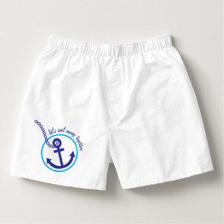 Calzoncillos Pantalones cortos ausentes torcidos ancla del