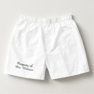 Calzoncillos Propiedad de señora Boxers