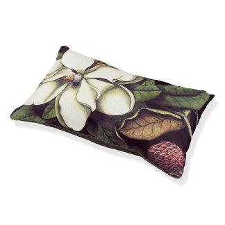 Cama botánica del perro de la magnolia