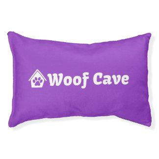 Cama del perro de la cueva del tejido