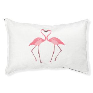 Cama Para Mascotas Amor rosado hermoso de los flamencos