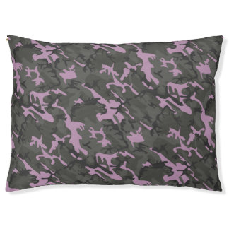 Cama Para Mascotas Camo verde y rosado
