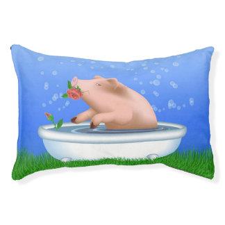 Cama Para Mascotas Cerdo que toma el baño