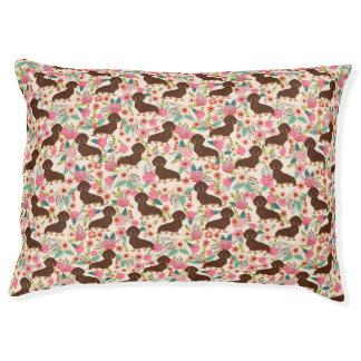 Cama Para Mascotas Doxie floral - menta