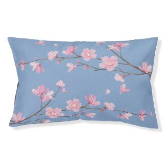 Cama Para Mascotas Flor de cerezo cuadrada - azul de la serenidad
