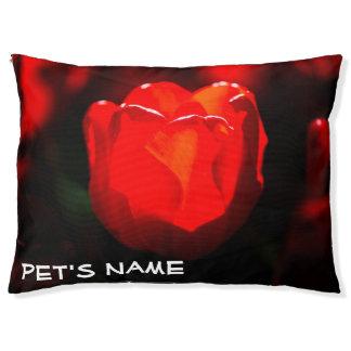 Cama Para Mascotas Flor roja del tulipán - fuego
