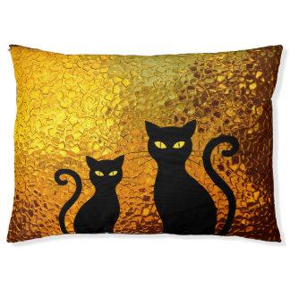 Cama Para Mascotas Gatitos texturizados del gato negro del resplandor