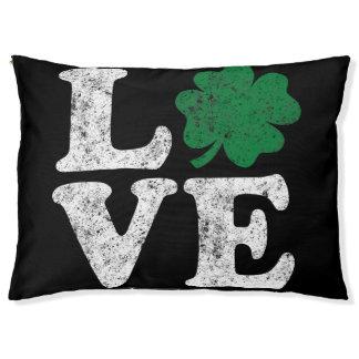 Cama Para Mascotas Irlandés del trébol del AMOR del día de St Patrick