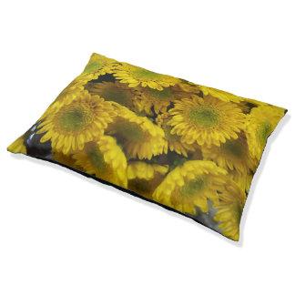 Cama Para Mascotas Las flores amarillas de la diversión imprimen la
