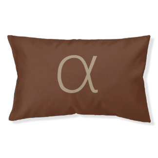 Cama Para Mascotas Letra alfa minimalista moderna en marrón
