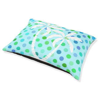 Cama Para Mascotas Modelo de Polkadots de la verde lima de las azules
