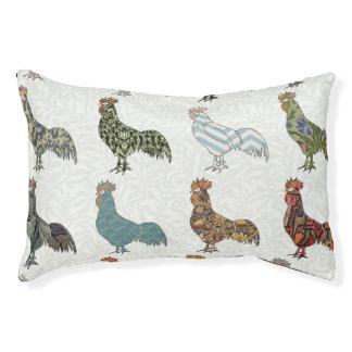 Cama Para Mascotas Modelo retro del gallo colorido
