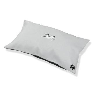 Cama Para Mascotas Persiga la cama, con un galgo en él