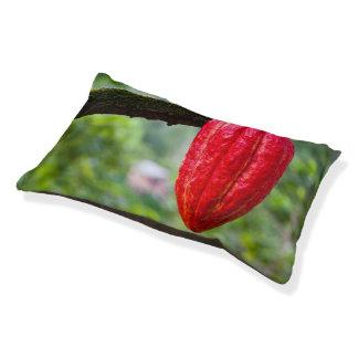 Cama Para Mascotas rojo de la vaina del cacao