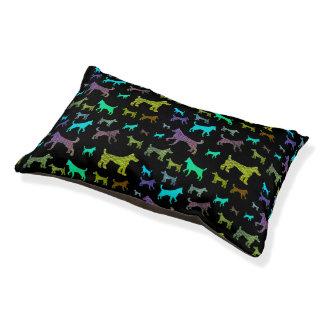 Cama Para Mascotas Silueta colorida del perro