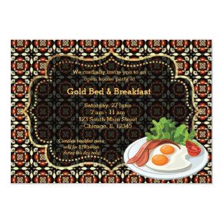 Cama y desayuno de la gran inauguración invitaciones personales