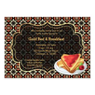 Cama y desayuno de la gran inauguración invitación 12,7 x 17,8 cm