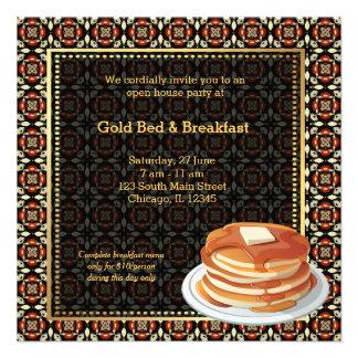 Cama y desayuno de la gran inauguración comunicados personalizados