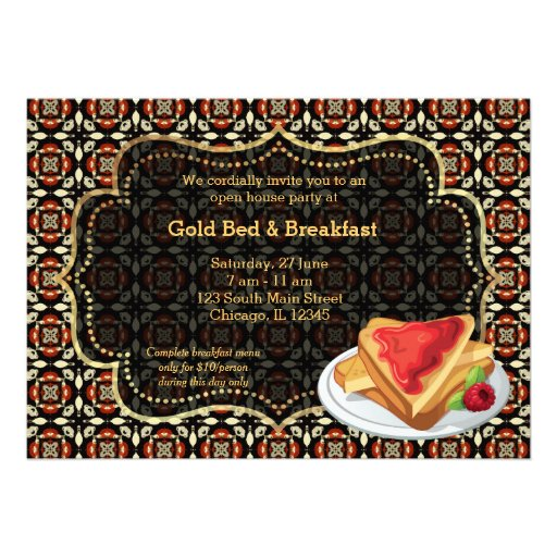 Cama y desayuno de la gran inauguración comunicados