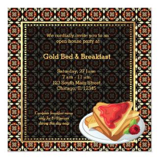 Cama y desayuno de la gran inauguración invitación 13,3 cm x 13,3cm