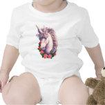 Camafeo del unicornio trajes de bebé