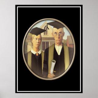 Camafeo graduado gótico americano póster