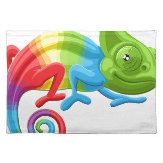 Camaleón del arco iris salvamanteles