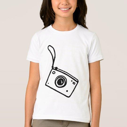 Cámara - camiseta del campanero de los chicas