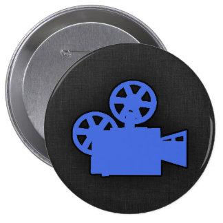 Cámara de película del azul real pin
