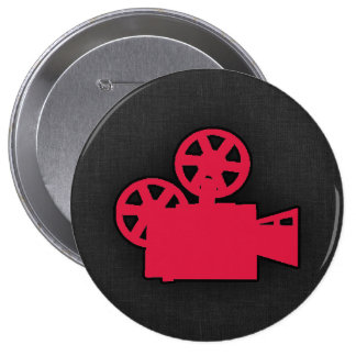 Cámara de película del rojo carmesí pins