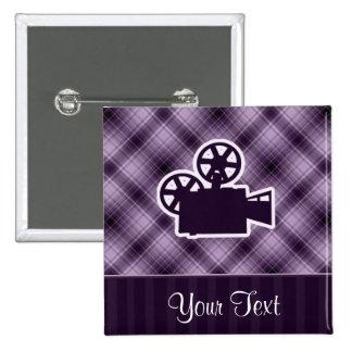 Cámara de película púrpura pins
