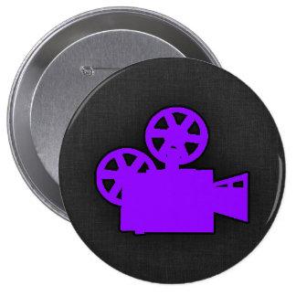 Cámara de película púrpura violeta pin