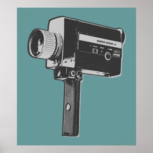 Cámara de película retra impresiones