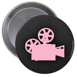 Cámara de película rosa clara pins