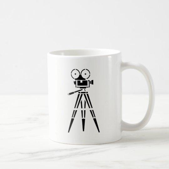 Cámara del escenario de película de la película taza de café