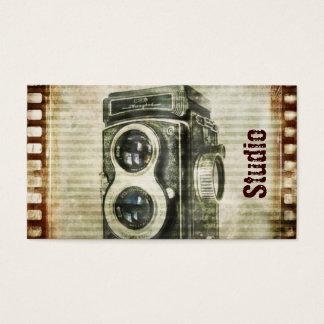 Cámara del vintage de la fotografía del fotógrafo tarjeta de negocios