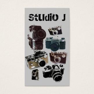 Cámara del vintage de la fotografía del fotógrafo tarjeta de visita