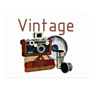Cámara del vintage postal