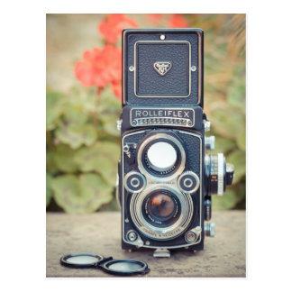 Cámara gemela vieja de la lente postal