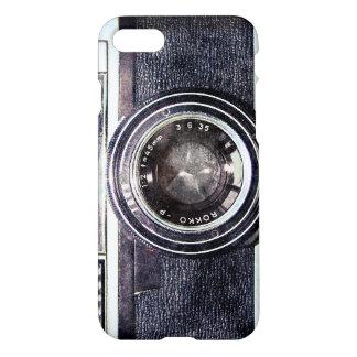 Cámara negra vieja funda para iPhone 7