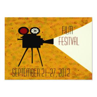Cámara, película, teatro, plantilla de la película invitaciones personales