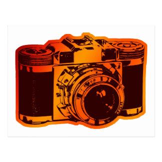 cámara retra postal